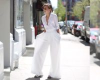 Tri odevne kombinacije za široke bele pantalone