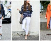 Kako nositi bele farmerice